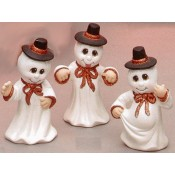 Ghosts with Hats (3 per) Mold