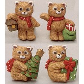 Christmas Bear Magnets (4 per) Mold