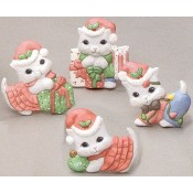 Christmas Kitten Magnets (4 per) Mold