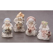 Mop Doll Girl Magnets (4 per) Mold