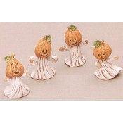 Pumpkin Head Ghost Insert (4 per) Mold