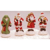 Small Santa Figures (4 per) mold
