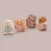 Animals with Hearts Magnets (4 per) Mold