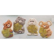 Animals with Shamrock Magnets (4 per) Mold