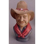 """""""Lefty"""" Cowboy Bust Mold"""