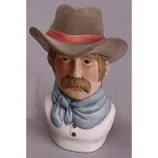 """Shorty"" Cowboy Bust mold"