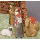 Faceless Nativity Set B Mold (3 kings, camel, shepherd, sheep)