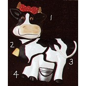 Cow Puzzle Magnets (4 per) Mold