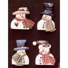 Riverview 909 Snow People Magnets Mold