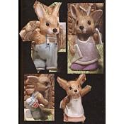 Bunny Family mold