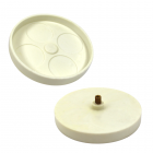 """2-3/4"""" turntable - White opaque"""