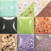 """Mayco 2019 Color Release - 1"""" Test Tiles (9 pc.)"""
