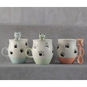 Cute Critters Mugs and Spoons