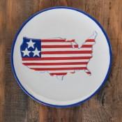 Patriotic USA Plate