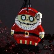 Scary Santa Ornament