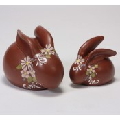 Sand Painted Chocolate Bunnies