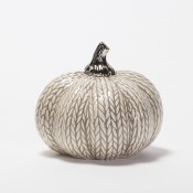 Grey Knitted Pumpkin