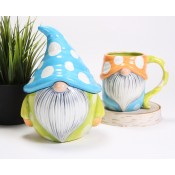 Polka Dot Gnome Mug and Jar