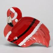 Christmas Flamingo Plate