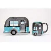 Metallic Camper Dish & Mug