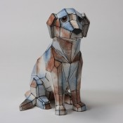 Faceted Blue Dog