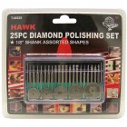 25 pc. Diamond polishing set