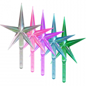 Aurora Large Stars - Assorted Colors (5-pack)